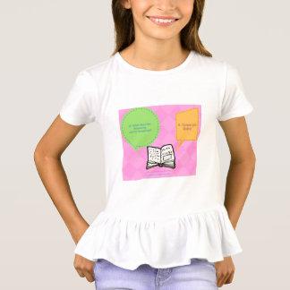 Lernen Sie und seien Sie niedliche gekräuselte T-Shirt