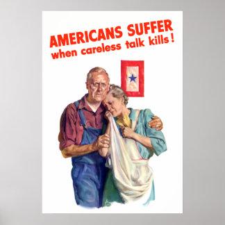 Les Américains souffrent quand des mises à mort né Poster