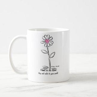 Les amis sont comme la tasse de fleurs