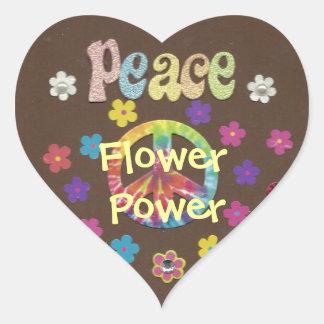 Les années 1960 : Autocollant de flower power