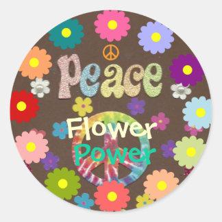 les années 1960 : Autocollant de flower power et