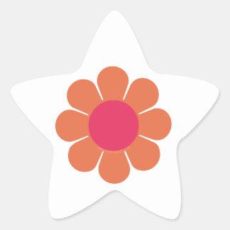 les années 70 flower power autocollant en étoile