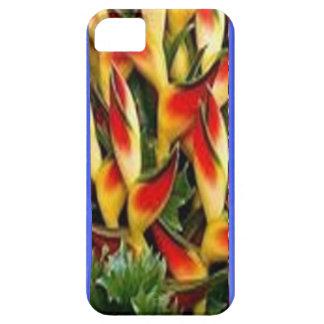 Les bandes de motif de fleur de l'huile bleue ont iPhone 5 case