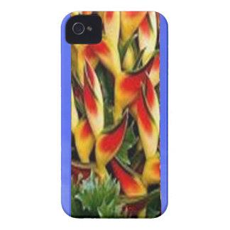Les bandes de motif de fleur de l'huile bleue ont coque iPhone 4