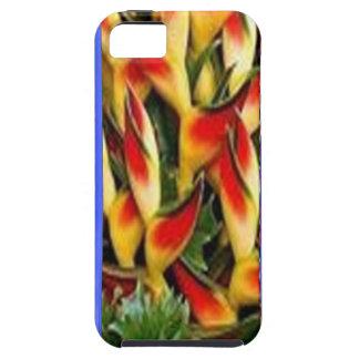 Les bandes de motif de fleur de l'huile bleue ont coque Case-Mate iPhone 5