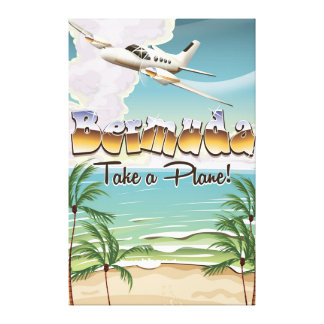 Les Bermudes prennent une affiche plate de voyage Toiles