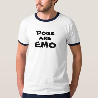 Les chiens, sont, EMO Tee Shirts