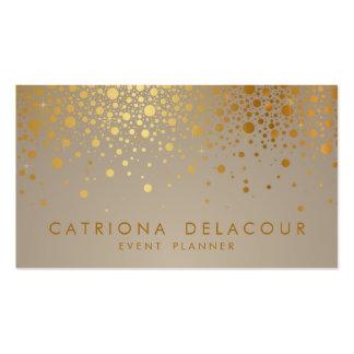 Les confettis de feuille d'or de Faux pointillent Carte De Visite Standard