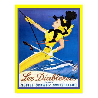 Les Diablerets, die Schweiz Postkarte
