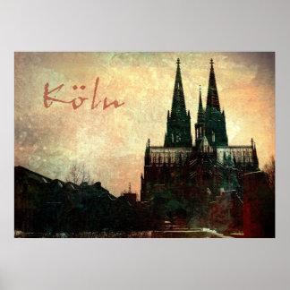 Les DOM de Kölner d'impression de toile de Leinwan Poster