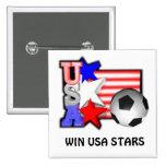 Les ÉTOILES DU FOOTBALL de FEMMES des Etats-Unis f Badges