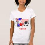 Les ÉTOILES DU FOOTBALL de FEMMES des Etats-Unis T-shirts