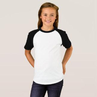 Les filles court-circuitent le T-shirt de raglan