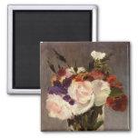 Les fleurs de Manet dans un vase en cristal - aima Magnets