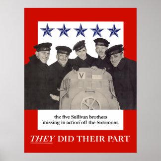 Les frères de Sullivan -- Ils ont fait leur partie Posters