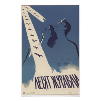 """""""Les grues pilotent"""" le film soviétique 1957 de l' Posters"""