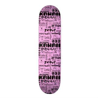 Les langues de la planche à roulettes mignonne mini skateboard 18,4 cm