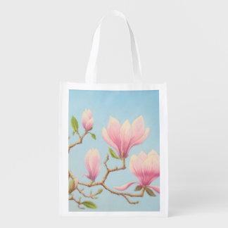 Les magnolias en fleur Wisley fait du jardinage Sacs D'épicerie Réutilisables
