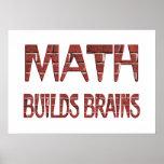 Les maths construisent des cerveaux posters