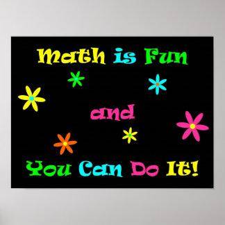 Les maths sont amusement et vous pouvez le faire posters