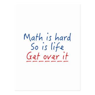 Les maths sont dures carte postale