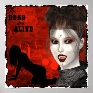 Les morts sont vivants - copie de toile affiches