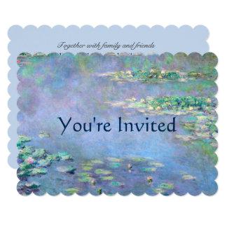 Les Nympheas Wasser-Lilien Monet Kunst-Hochzeit Karte
