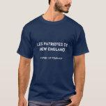 LES PATRIOTES De NOUVELLE ANGLETERRE, vitesse de T-shirt