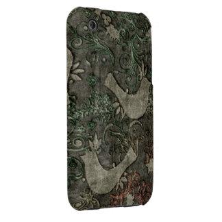 Les perruches vintages ont gravé l iPhone en refie Coque iPhone 3 Case-Mate