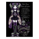 Les règles de Sadies du Faery gothique de crâne de Carte Postale