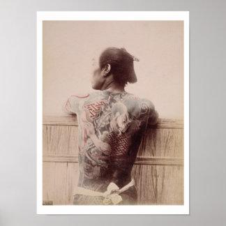 Les tatouages du jeune marié japonais, c.1880 (pho posters