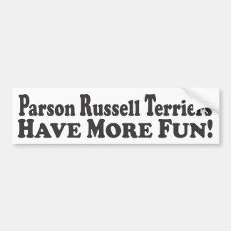 Les terriers de Russell de pasteur ont plus d'amus Autocollant De Voiture