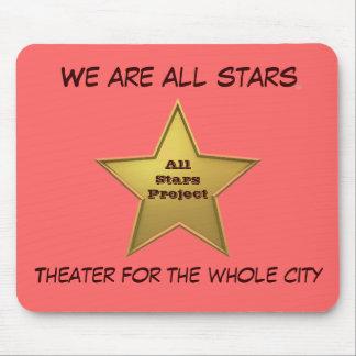 Les toutes les étoiles MP/Pink Tapis De Souris