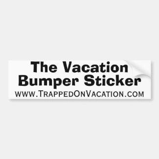 Les vacances, adhésif pour pare-chocs, autocollant de voiture