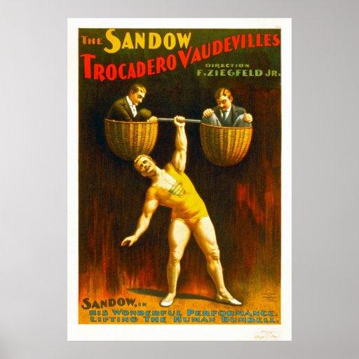 Les vaudevilles de Sandow Trocadero Poster