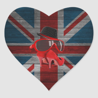 Les verres rouges de casquette frais de mode sticker cœur