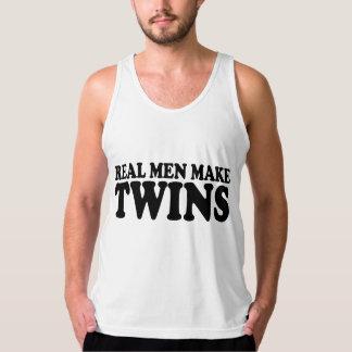 les vrais hommes font des jumeaux t-shirt sans manches