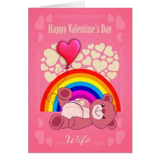 Lesbe, Ehefrau, der Tag des Valentines mit Karte