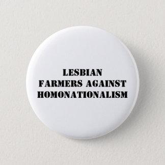lesbische Bauern gegen homonationalism Runder Button 5,7 Cm