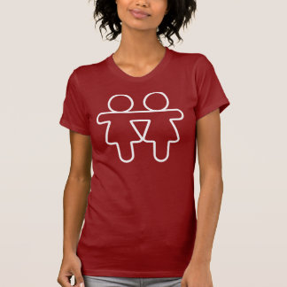 Lesbische Gay Pride-Liebe T-Shirt