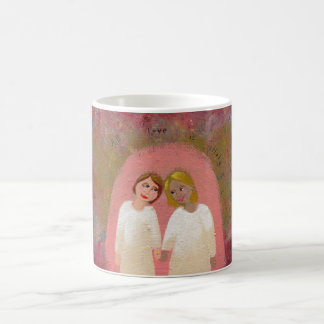 Lesbische homosexuelle Hochzeit - erlaubterweise M Kaffeehaferl