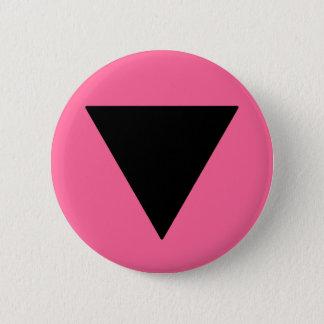Lesbisches Stolz-Schwarz-Dreieck Runder Button 5,7 Cm