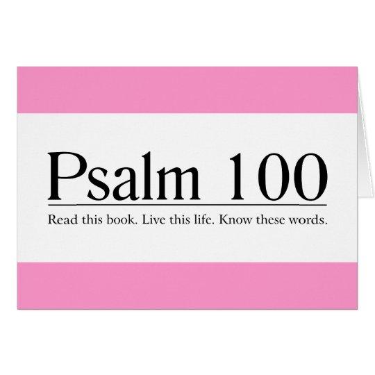 Lesen Sie den Bibel-Psalm 100 Grußkarte