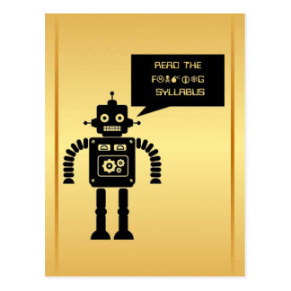 Lesen Sie den freundlichen Syllabus Postkarte