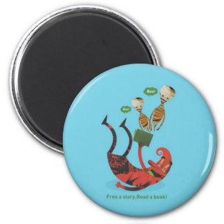 Lesen Sie mehr Bücher Runder Magnet 5,7 Cm