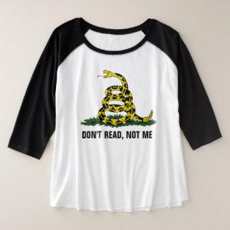 Lesen Sie nicht, nicht ich Große Größe Raglan T-Shirt