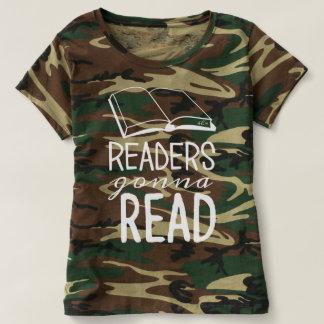 Leser, die gehen, - die Camouflage-Shirt der T-shirt