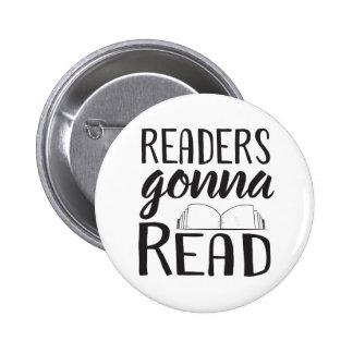 Leser, die gehen zu lesen runder button 5,1 cm