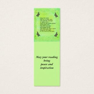 Lesezeichen für Frieden und Inspiration Mini Visitenkarte