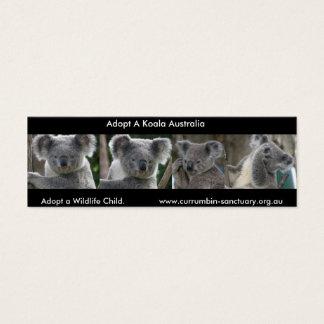 Lesezeichen-Koala adoptieren ein Tier-Kind Mini Visitenkarte